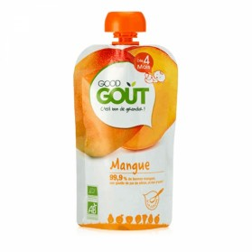 GOODGOUT PUREE DE FRUIT BIO MANGUE 120G
