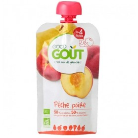 GOODGOUT PUREE DE FRUIT BIO POIRE PECHE 120G