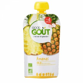 GOODGOUT PUREE DE FRUIT ANANAS BIO 120G