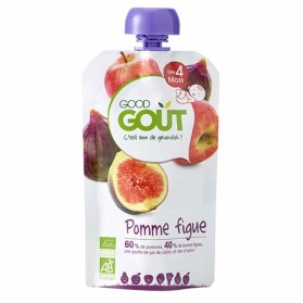 GOODGOUT PUREE DE FRUIT BIO POMME FIGUE 120G