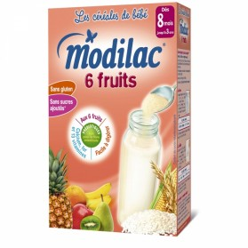 MODILAC CEREALES 6 FRUITS DES 8 MOIS 300G