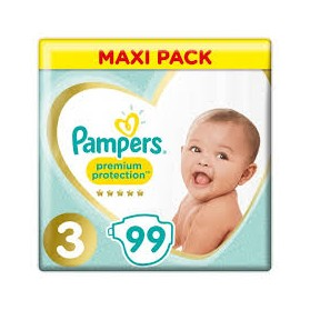 PAMPERS Premium Protection Maxi Pack 99 Couches Taille 3 (6-10 kg)
