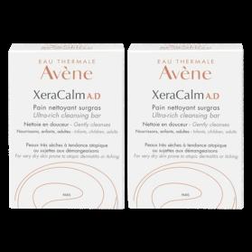 AVENE XERACALM A.D Pain Nettoyant Surgras, 2 boites de 100g