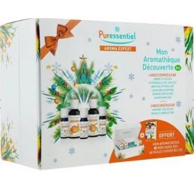Puressentiel Coffret Découverte 6 Huiles Essentielles + 2 Huiles Végétales + Aromathèque offerte