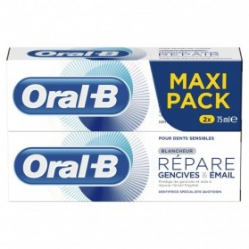 Oral B Dentifrice Gencives Email Blancheur 2x75ml