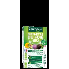 SANTAROME BIO Gélules bien-être foie 30 gélules