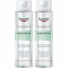EUCERIN DERMOPURE DUO EAU MICELLAIRE PEAUX A IMPERFECTIONS 2X400ML