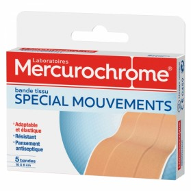 MERCUROCHROME BANDE DE TISSU SPECIAL MOUVEMENTS 10X6 CM 5 BANDES