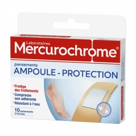 MERCUROCHROME PANSEMENTS PROTECTION AMPOULES 2 FORMATS X10 PIECES