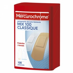 MERCUROCHROME BOITE 1ER SECOURS PANSEMENTS MULTI USAGES X100