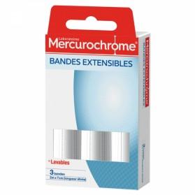 MERCUROCHROME BANDES EXTENSIBLES 2MX7CM X3