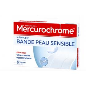 MERCUROCHROME BANDE PEAU SENSIBLE X10