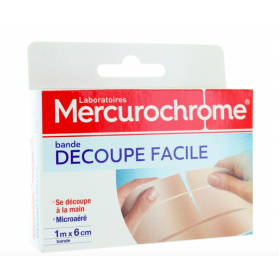 MERCUROCHROME PANSEMENT BANDE DECOUPE FACILE 1MX6CM