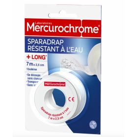 MERCUROCHROME SPARADRAP RESISTANT A L'EAU 7 M X 2.5 CM