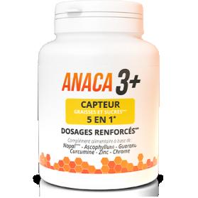 ANACA3 + CAPTEUR DE GRAISSES ET SUCRES 5 EN 1 boite de 120 gélules