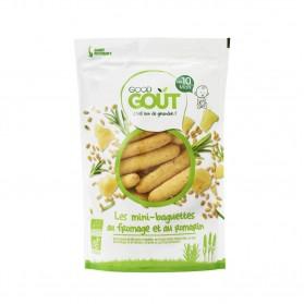 GOOD GOUT Mini baguettes au fromage & au romarin Bio sachet de 70G