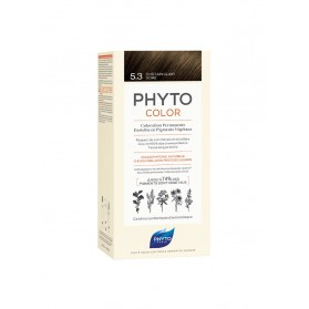 PHYTO PHYTOCOLOR COLORATION PERMANENTE AUX PIGMENTS VEGETAUX - 5.3 CHATAIN CLAIR DORE