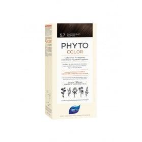 PHYTO PHYTOCOLOR COLORATION PERMANENTE AUX PIGMENTS VEGETAUX - 5.7 CHATAIN CLAIR MARRON