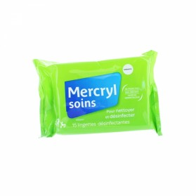 MERCRYL SOINS 15 LINGETTES DESINFECTANTES