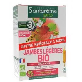 SANTAROME BIO JAMBE LEGERE offre spéciale 1 mois 30 ampoules