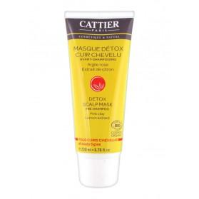 Cattier Masque Détox Cuir Chevelu Avant-Shampoing 200 ml