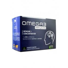Santé Verte Omega 3 1000 mg de DHA 60 Capsules