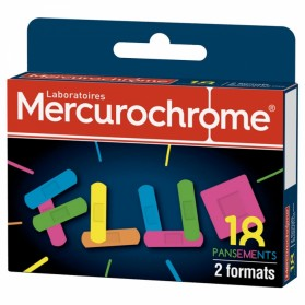 MERCUROCHROME PANSEMENTS FLUO 2 TAILLES X18