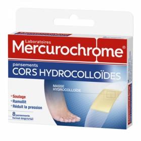 MERCUROCHROME PANSEMENTS CORS HYDROCOLLOIDES 8 PANSEMENTS DOIGTS ORTEILS