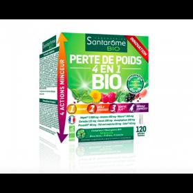 SANTAROME PERTE DE POIDS 4EN1 BIO 120 GELULES