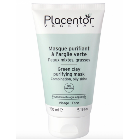 PLACENTOR VEGETAL MASQUE PURIFIANT ARGILE VERTE PEAUX MIXTES 150ML