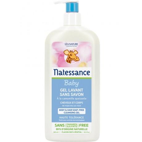 NATESSANCE BEBE Gel Lavant Sans Savon 500 ml