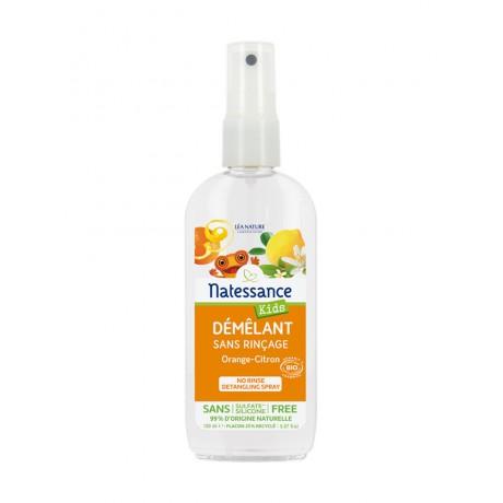 NATESSANCE Kids Démêlant Bio sans Rinçage Orange-Citron 150 ml