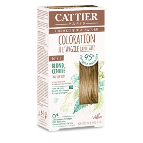CATTIER Coloration à l'argile Ton sur Ton Blond Cendre 7.1