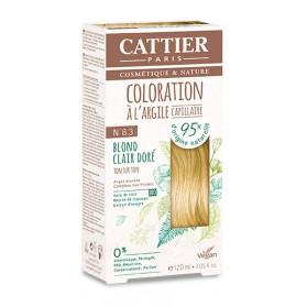 CATTIER Coloration à l'argile ton sur ton blond clair doré 8.3