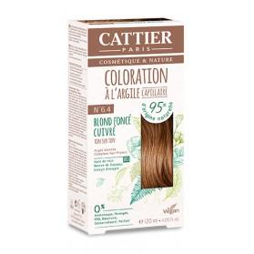 CATTIER Coloration à l'argile ton sur ton blond foncé cuivré 6.4