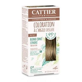 CATTIER Coloration à l'argile Ton sur Ton Blond Foncé Cendre 6.1
