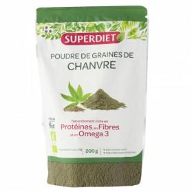 Super Diet poudre de graines de chanvre Bio 200 g