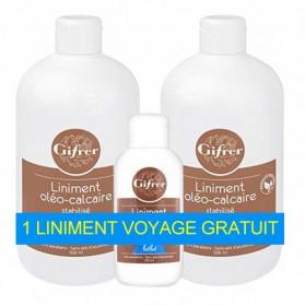 GIFRER LINIMENT OLEO-CALCAIRE lot de 2x500ml+1 liniment format voyage 100ml