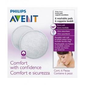AVENT 6 Coussinets d'Allaitement lavables