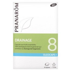 PRANARÔM OLÉOCAPS+ 8 DRAINAGE BIO 30 CAPSULES