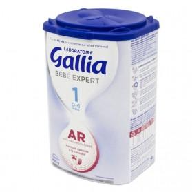 GALLIA Bébé Expert AR 1 Lait en Poudre Anti Régurgitations Nourrissons de 0 à 6 Mois