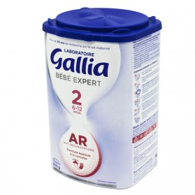 GALLIA Bébé Expert AR 2 Lait en Poudre Anti Régurgitations Nourrissons de 6 à 12 Mois 800g