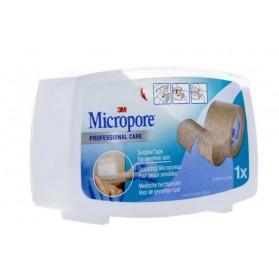3M Micropore sparadrap chair avec dévidoir 25 mm x 5 m