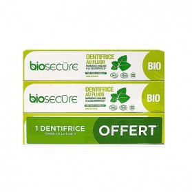 BIOSECURE Dentifrice au fluor chlorophylle 3x75ml