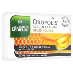 MÉDIFLOR OROPOLIS COEUR LIQUIDE GELÉE ROYALE 16 PASTILLES ADOUCISSANTES