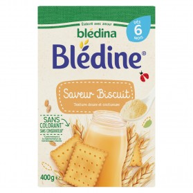 BLEDINA Céréales bébé dès 6 mois saveur biscuitée 400g