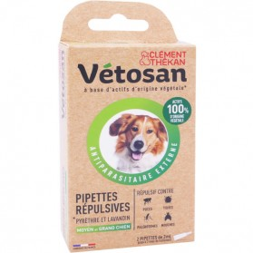 VETOSAN PIPETTES REPULSIVES GRAND MOYEN CHIEN 2X3Ml