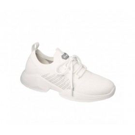 SCHOLL BASKET FREEDOM LACES BLANC