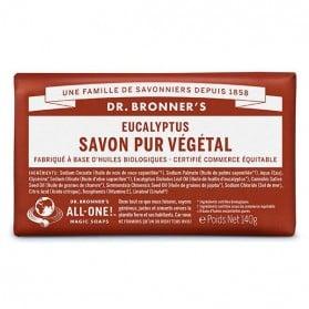 DR BRONNER'S SAVON DE CASTILLE SOLIDE EUCALYPTUS 140 GR