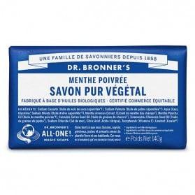 DR BRONNER'S SAVON DE CASTILLE SOLIDE MENTHE POIVRÉE 140 GR